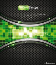 Dynamic technology background vector material 02   Vector