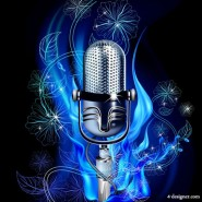 Gorgeous microphone   Vector