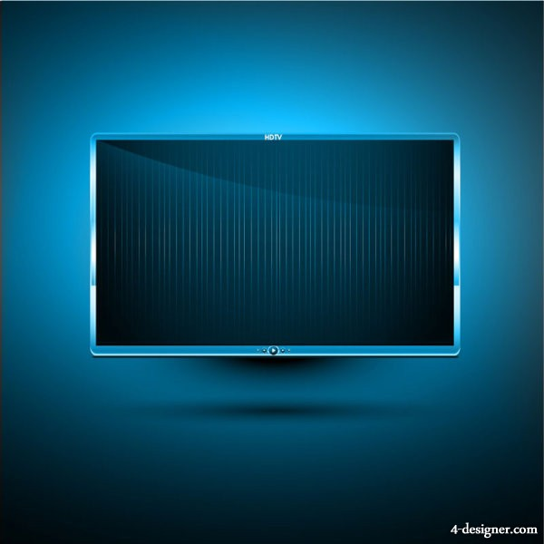 LED TV 11   vector material