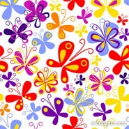 Colorful butterfly background vector material