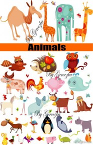 Animals vector material