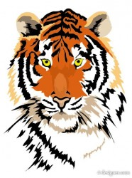 Tiger picture 01   vector material