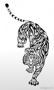 Tiger picture 08   vector material