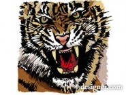Tiger picture 32   vector material