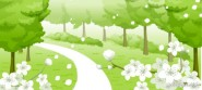 Flowers, paths, trees Vector