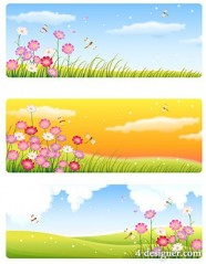 Korean style scenery vector material  3