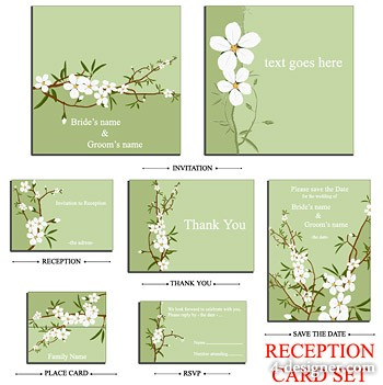 Small white flowers vector material
