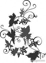 Vine silhouette vector material