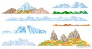 Beautiful mountains Vector