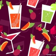 Cartoon drinks Background 01   Vector