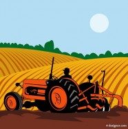 Farming illustrator vector material