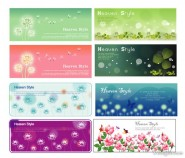 Flower Plants banner vector material