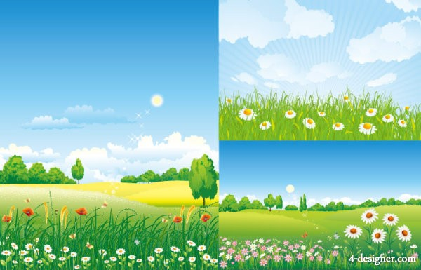 Outskirts of scenery vector material
