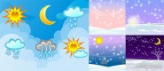 Weather change vector material