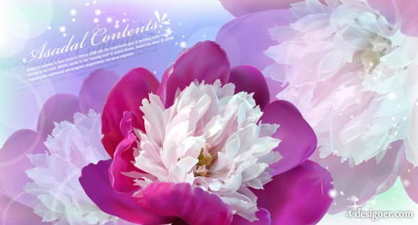 flowers vector material  1 Flowers; flowers; dream; background; Vector; purple