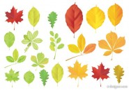 Leaves vector material