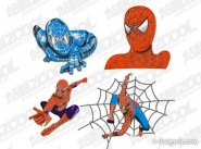 4 models Spiderman vector material
