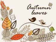 Autumn illustrations vector material  1