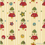 Cartoon Christmas pattern background 04   vector material