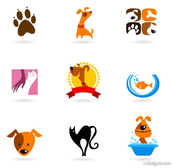 Cartoon animals image of 01   Vector