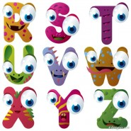 Cartoon animals letters 03   Vector