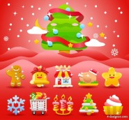 Christmas holiday clip 01   vector material
