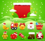 Christmas holiday clip 05   vector material