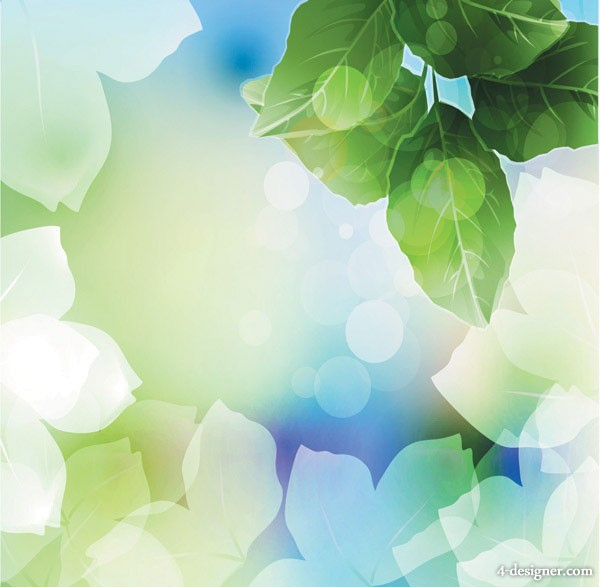 Dream plant background vector material  6