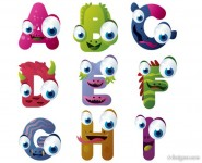 Vector cartoon animals letters 01   Vector