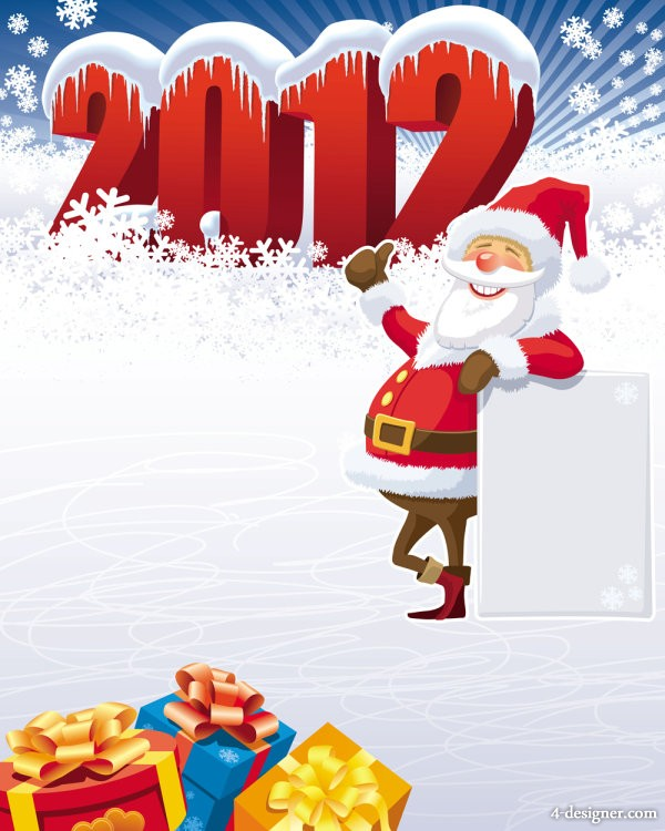 Winter Christmas clips 04   vector material