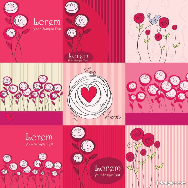 Vector line art roses   Vector line art; roses; lines; flowers; hand painted;