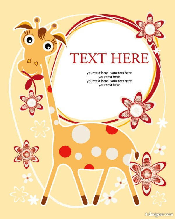 Cartoon illustrator Background 02   Vector