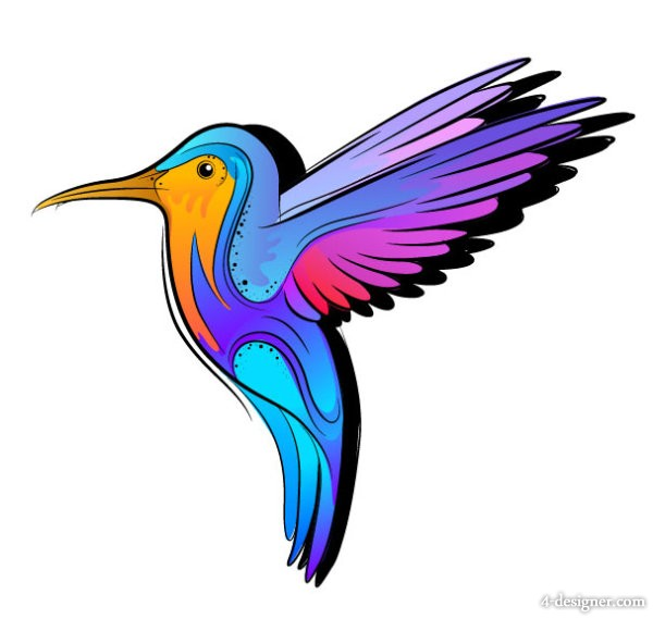 Colorful hand painted illustrations 05   Vector