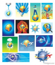 13 models of the Earth theme series of vector material