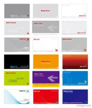 2 sets of stereo arrow theme Business Card Templates