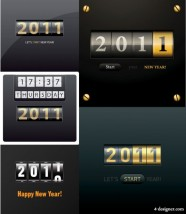 2011 scrolling marquee vector material