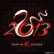 2013 Year of the Snake design 01   vector material