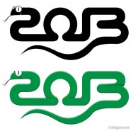 2013 Year of the Snake design of the 03   Vector
