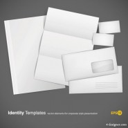 Blank stationery envelope card vector material
