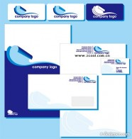 Blue simple enterprise VI template vector material