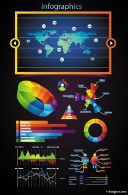 Business data elements 02   vector material