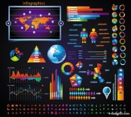 Business data elements 03   vector material