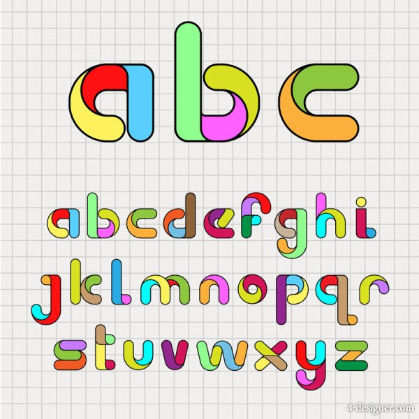 cartoon creative letters 04 vector