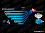 Charts of various types vector material  14