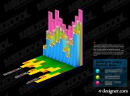 Charts of various types vector material  23