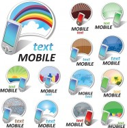 Colorful mobile phone vector material