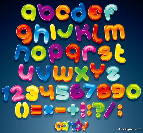 Creative letters design 02   vector material