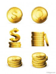 Exquisite wealth icon vector material 02   Vector