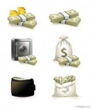 Exquisite wealth icon vector material 03   Vector