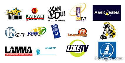Featured foreign media vector LOGO material  3